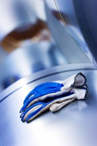 rękawice ochronne w kolorze niebieskim