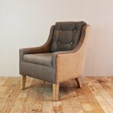 tapicerowany fotel