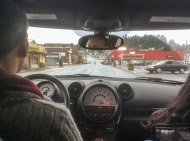 w samochodzie