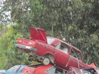 auto na złomowisku